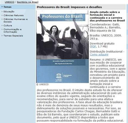 professores brasil unesco